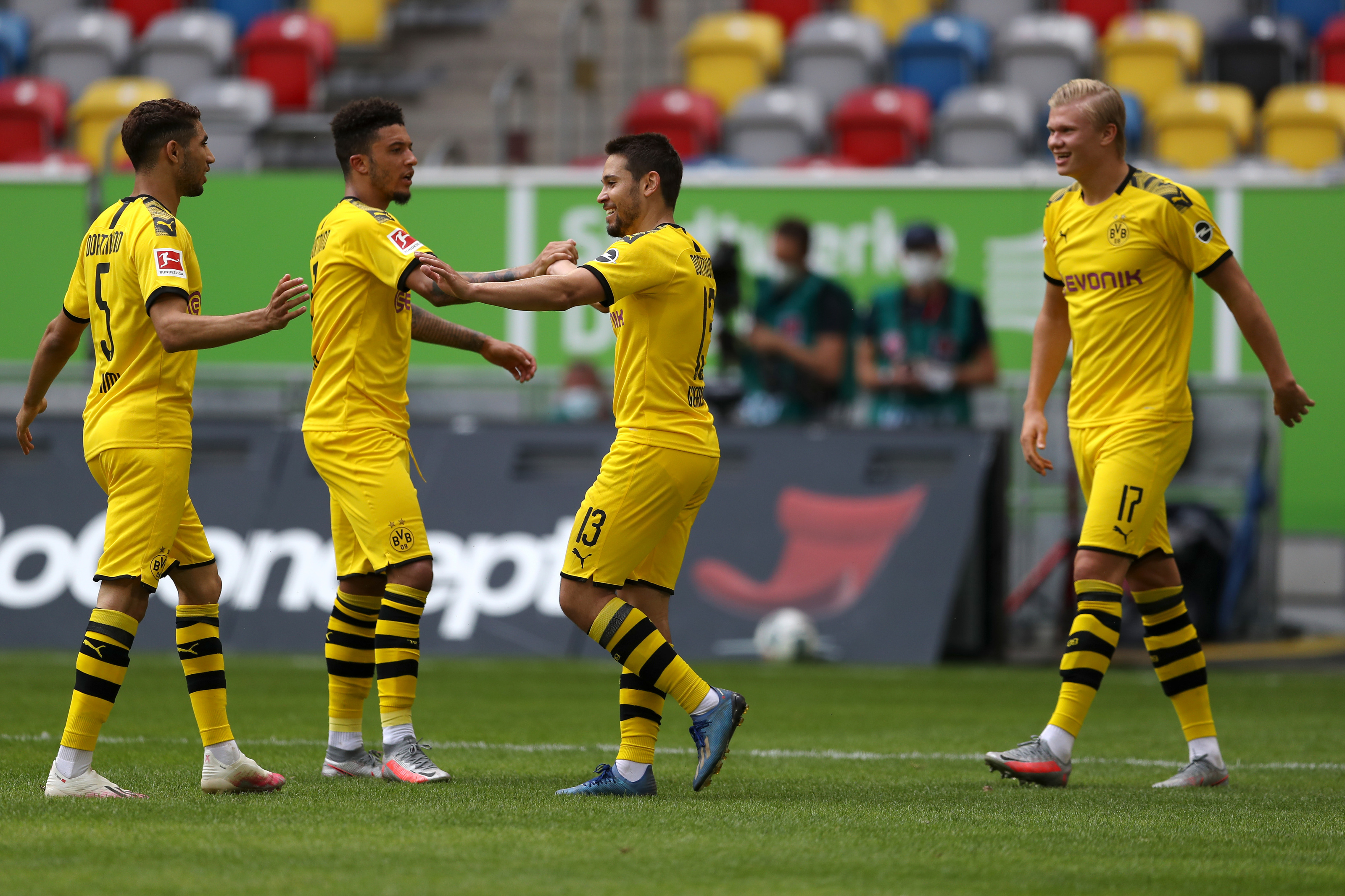 Expected Borussia Dortmund Line Up For Mainz Clash Haaland To Start